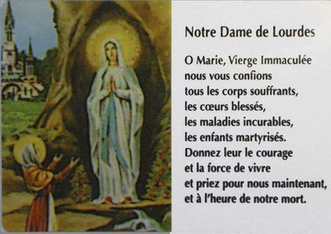Priez pour moi et pour ma famille  LourdesND