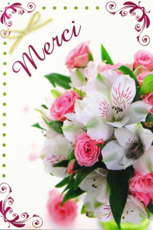 Mes creas merci for Bouquet par internet